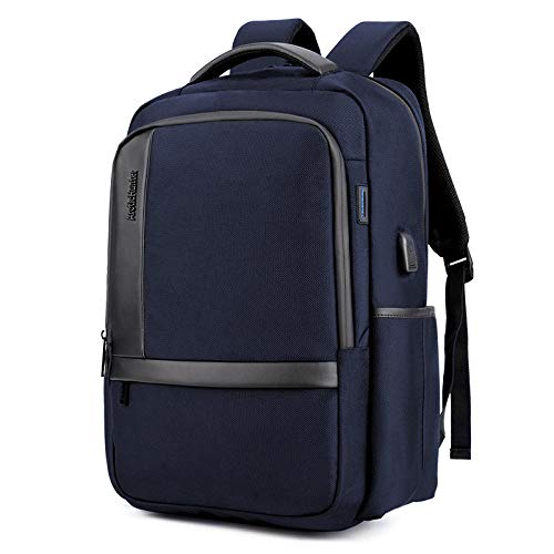 Laptop Backpack Business Backpack College High School Bag with USB Charging Port Sturdy Handle to Fit The Back for Outdoor Entertainment and Work Blue