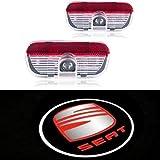 ZHANGNA 2 Piezas Car Puerta Logo Proyector Bienvenido Ghost Sombra Luz Iluminación (seat alhambra)