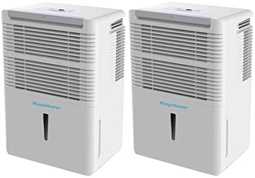 Buy Discount Keystone KSTAD50B Energy Star 50-Pint Portable Dehumidifier for 3000 Sq. Ft. with 6.4-P...