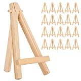Mini caballete de 20 piezas, material de madera de pino resistente, para...
