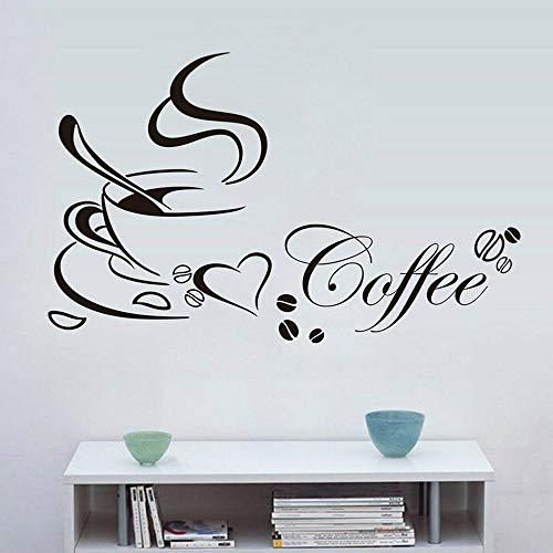 Artistry Kaffeetasse Wandaufkleber Cafe Wohnkultur Vinyl Wandtattoos Für Küche Esszimmer Konditorei Business Art Murals C905