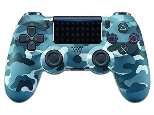 Titoboo Für Ps4 Controller ,Bluetooth Wireless Controller Für PS4 / PS4 Pro / PS4 Slie/Playstation 4 Mit Doppelter Vibration,Rosso Mimetico-Blaue_Tarnung