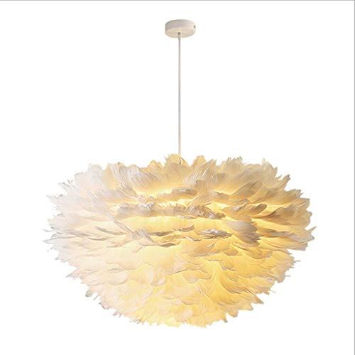 Iluminación Para El Hogar Nordic Creative Led Lámpara Colgante E27 Personalidad Diy Candelabro De Plumas Cálido Romántico Ins NiñasDormitorio Luminaria Lámpara De Altura Ajustable Pantalla Lámpara D