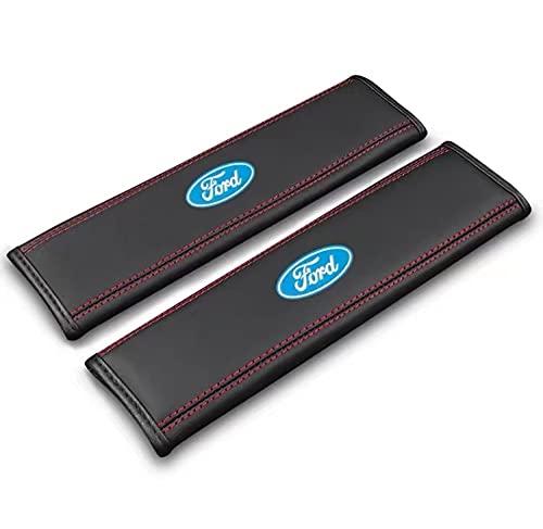 para Ford Kit de Cubierta de la Almohadilla del cinturón de Seguridad 2-Paquete cómodo de la Correa del cinturón de Seguridad del Coche Almohadilla de Hombro para Adultos y niños ?