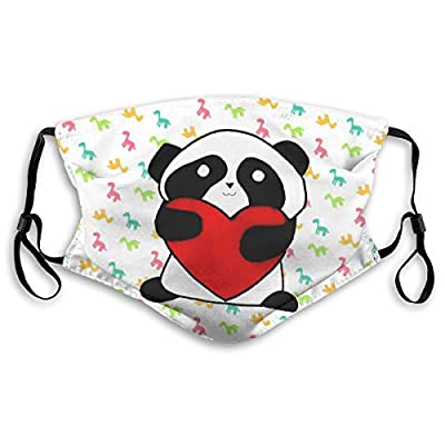 HOTBABYS Playful Pandas Reusable Activated Carbon Filter Face Covering with Replaceable Filter for Men Women M