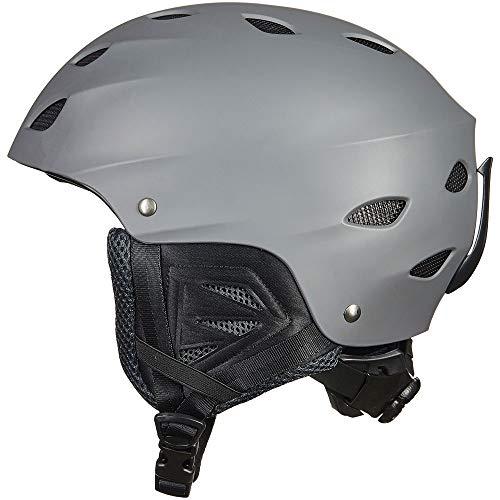 ILM Ski Helmet Snowboard Snow Sports Sled Skate Outdoor Recreation Gear for Men Women ASTM Certified (Gray, M)