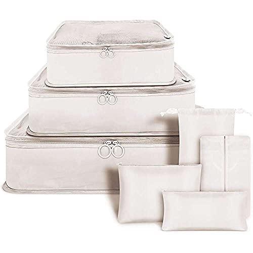 YuKeShop Bolsa de almacenamiento portátil de 7 piezas, ropa interior, bolsa organizadora de equipaje de viaje, zapatos, digital, bolsa de almacenamiento con cordón