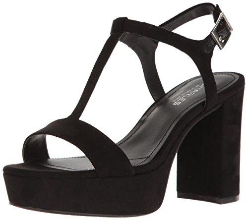 CHARLES BY CHARLES DAVID Women's Miller Platform Dress Sandal, Microsuede/Black, 7.5 M US