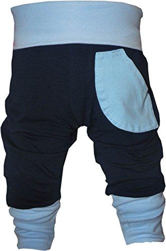 KLEINER FRATZ Baby Pumphose (Farbe Navy-hellblau) (Größe 128-140)