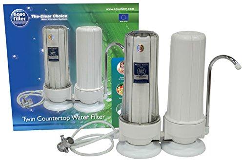 Original Aquafilter® 2-Stufen Auftisch Wasserfilter (OHNE Kartuschen)