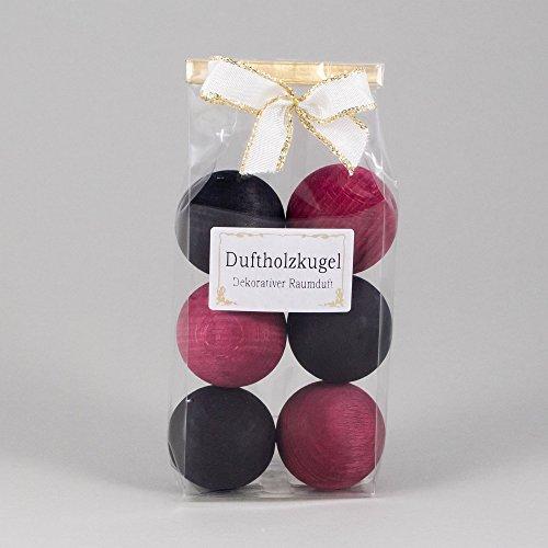 Petra Duftkugeln Weihrauch (schwarz/rosa), 6er Pack mit weiß-Goldener Scheife