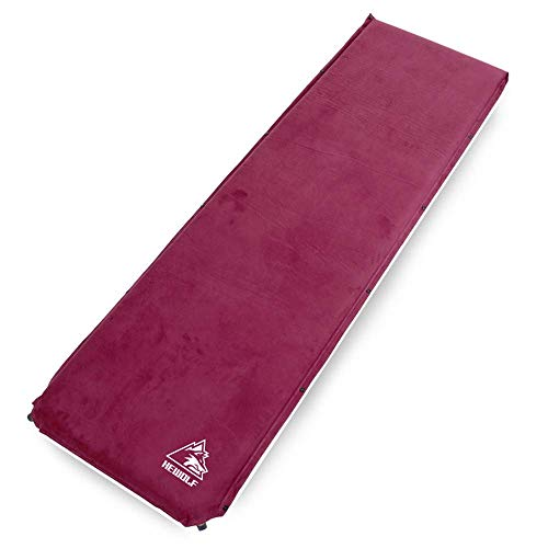 Camping mattress thicken automatic inflatable pillow cushion suede sleeping mat outdoor camping tent moisture proof
