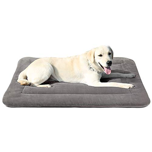 Large Dog Bed Crate Mat 42 in Washable Pet...