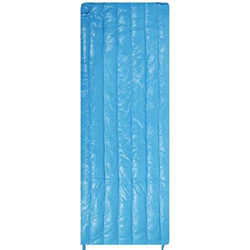 Sacos de dormir rectangulares versátiles 3 en 1 Saco de dormir ligero de plumas de pato blanco plumón Edredón de viaje para acampar al aire libre, 27 * 74 pulgadas