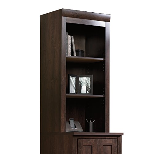 Sauder 408364 Office Port Hutch, Dark Alder