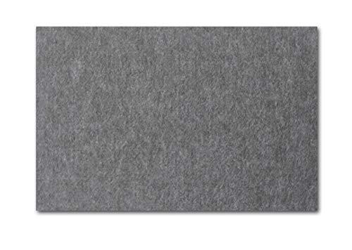 Ommda Kork Pinnwände Rechteckig Korktafel Memoboards Pinnwand Wand Filz mit Klettverschluss für Büro 2 Stück,Grau,30x45cm
