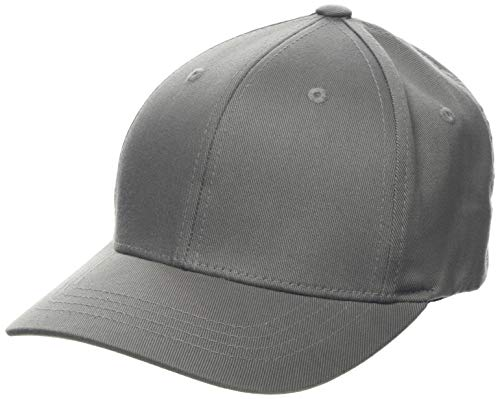 Flexfit Unisex Baseball Cap Wooly Combed, Kappe ohne Verschluss für Herren, Damen und Kinder, Farbe grey, Größe L/XL