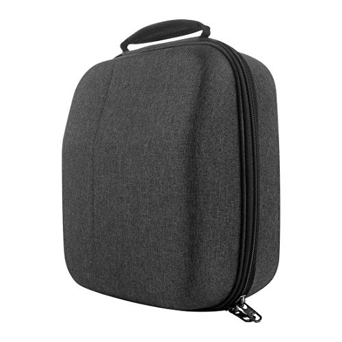 Geekria UltraShell Case for Large Sized Over-Ear Headphones, Replacement Protective Hard Shell Travel Carrying Bag with Cable Storage, Compatible with HiFiMAN HE1000 V2, SHURE SRH440 (Drak Grey)
