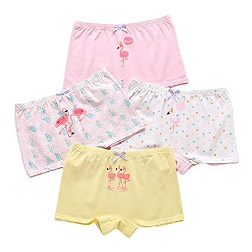 Mädchen Unterhosen,Kinder Unterhosen Unterwäsche,Kleinkind Slip Höschen,Baumwolle Kinder Höschen 4er Pack 2-16 Jahre (A,3XL-12-15 Years)