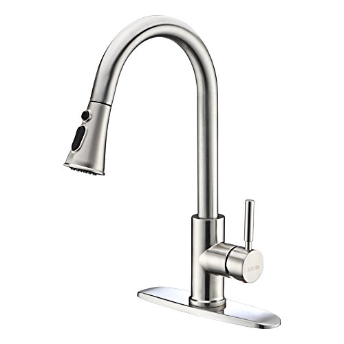 Kitchen Faucets with Pull Down Sprayer - Kablle Commercial Single...