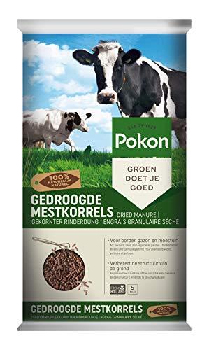 Pokon gekörnter Rinderdung, organischer Universaldünger, natürlicher Bodenverbesserer und Dünger, 5kg