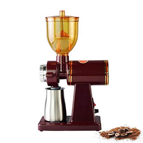 Molinillo de café eléctrico ajustable de precisión Molinillo profesional de molienda en polvo de granos de café con 8 configuraciones de tamaño de molienda fina-gruesa, fácil de limpiar, rojo 2,110 V