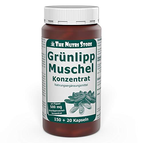 Grünlippmuschel 500 mg Konzentrat Kapseln 150+20 Stk. - nicht entfettet