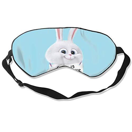 Preisvergleich Produktbild DJNGN Schneeball Das geheime Leben der Haustiere Schlafmaske,  personalisierte Augenbinde,  weiche und bequeme Augenabdeckung Blackout-fähige Augenabdeckung (ein Gurt)