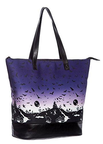 Hell Bunny HAUNT Halloween Bats Pumpkin Shopper TASCHE Gothic