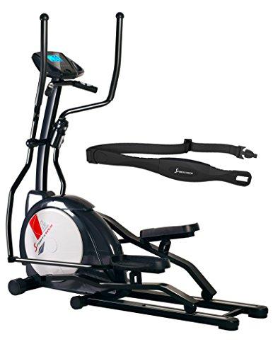 Sportstech CX630 Cross-Trainer Professionale 20 programmi di Allenamento – 24 Livelli di Resistenza – Cintura di impulsonel Valore di 39,90 € inclusasa - ellittica ergometro con Stepper ad Uso