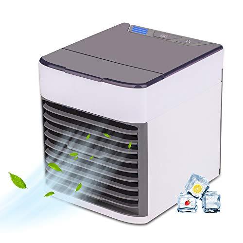 EVAYLIOX Mini Condizionatore Portatile Climatizzatore Portatile ad Acqua Silenzioso Mini Air Cooler Portable Raffredatore d Aria da Tavolo Rinfrescatore per Casa Ufficio 3 Velocità