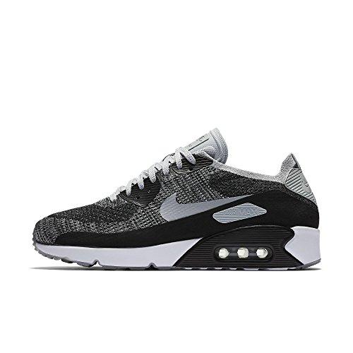 Nike Air Max 90 Ultra 2.0 Flyknit Herren Running Trainers 875943 Sneakers Schuhe (UK 5.5 US 6 EU 38.5, Black White Pure Platinum 005)