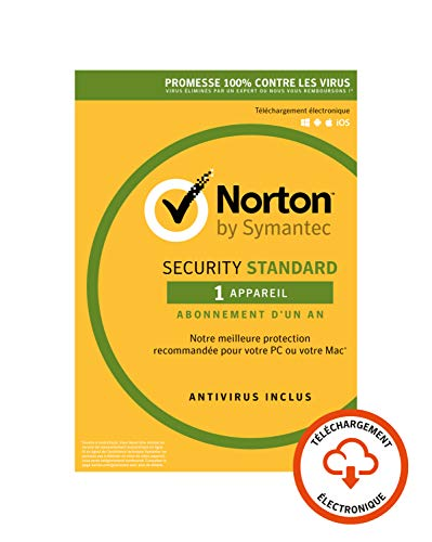 Norton Security Standard 2019 | 1 Appareil | 1 an | PC/Mac/iOS/Android | Téléchargement