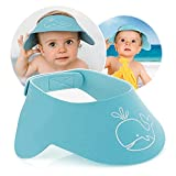 Reer MyHappyBath Cap Shampoo-Schutz, schützt Dein Kind vor Tränen beim Haarewaschen, stufenlos verstellbar, blau, 40-55 cm Kopfumfang