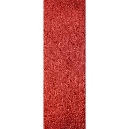 Clairefontaine 95206C - Un rouleau de crépon métallisé 2,50x0m50 72g, Rouge
