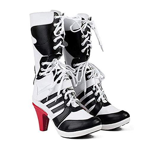 FINDPITAYA Kostüme Harleie Quinne Frau Cosplay Schuhe Größe 36-43 (40)
