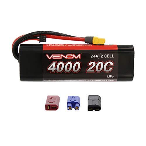 Venom Group International 15085 2S 7.4V 20C 4000mAh LiPo, Hardcase with Universal Plug