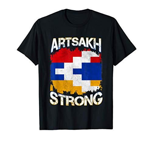 Artsakh Strong Defend Artsakh Armenien Flagge Protest Faust T-Shirt