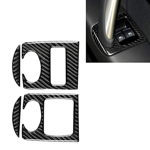 Car decorative fibre board fram Car Carbon Fiber Glass Lifter Panel Decorative Sticker, Fit for Audi TT 8n 8J MK123 TTRS 2008-2014, Right Drive