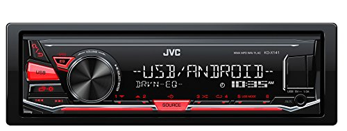JVC KD-X141 Autoradio Digitale Compatibile con Android, Rosso