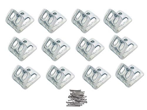 Clips de resorte para muebles de tapicería, clips de resorte EK, clips en S, reparación de muelles para silla y sofá (12 unidades)