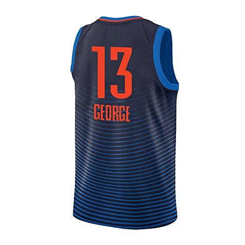 HuLei-Outdoor Camiseta de Baloncesto NBA Paul George Deportes de Entrenamiento para Hombres Nueva Camiseta cómoda XS-XXL Azul Marino, XS