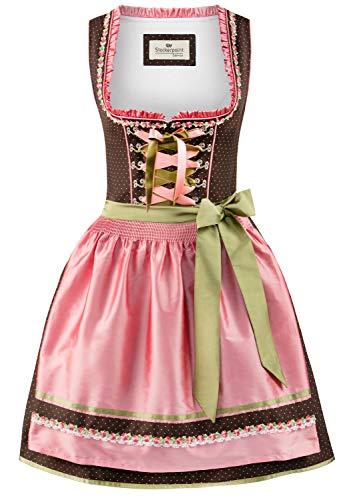 Stockerpoint Damen Patty Dirndl, Mehrfarbig (Braun-Rose Braun-Rose), (Herstellergröße: 42)