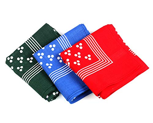 Pack of 5 100/% Luxury Cotton Spotted Handkerchiefs//Pocket Squares