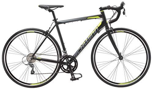 Schwinn Phocus 1600 Drop Bar Adult Road Bicycle, 58cm/Large Alluminum Step-Over Frame, Carbon Fiber Fork,16-Speed Drivetrain, 700c Wheels, Black