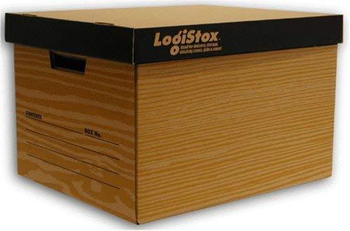 VillageBox 収納ボックス ロジストックス 茶 (3枚セット)