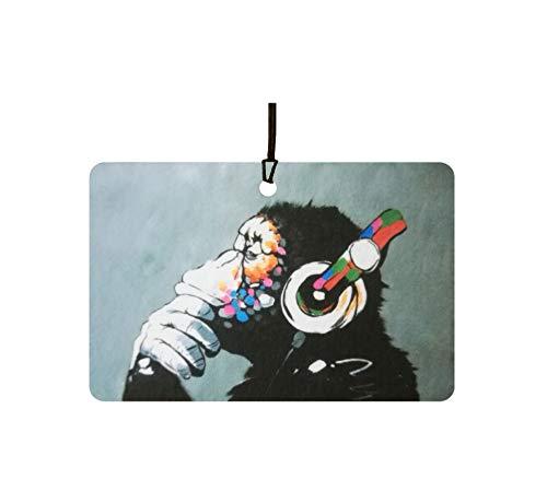 AAF Ambientador De Coche Banksy DJ Monkey