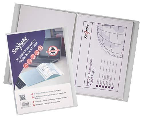 Snopake Präsentations-Sichtbuch 20 Hüllen A3 transparent