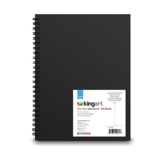 KINGART (Black), Side Wire Bound, 60 Lbs. (90G), 9