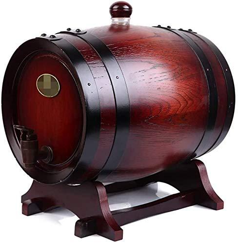 Barril de Madera, Barril de roble, barriles de vino de roble, cañones independientes de alto grado sin cañones de roble de hilos 0,75L, 1.5L, 3L, 5L, 10L, 15L, vino 50L, cerveza, sidra, whisky